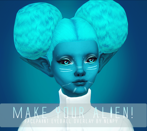 Make your alien! black eyeballs by Nenpy