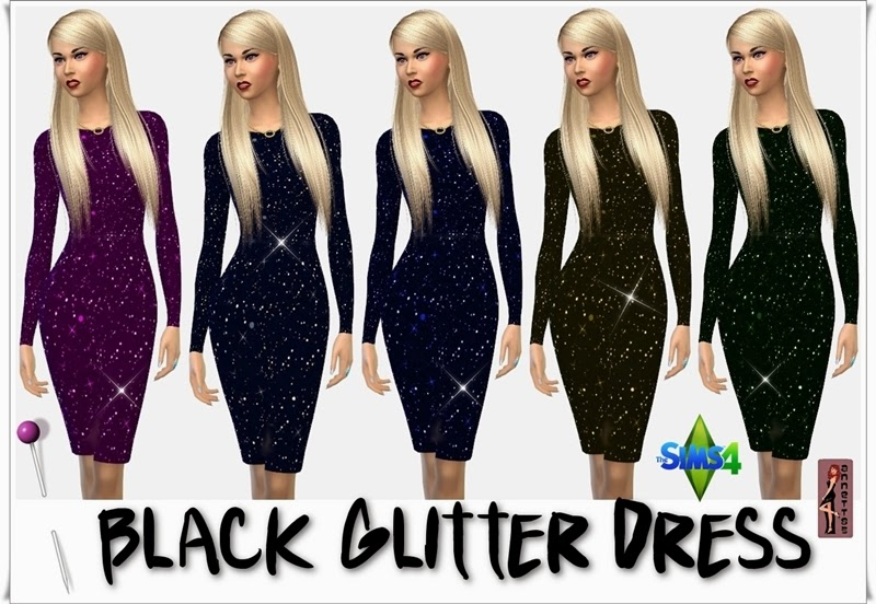 Black Glitter Dress by Annett85