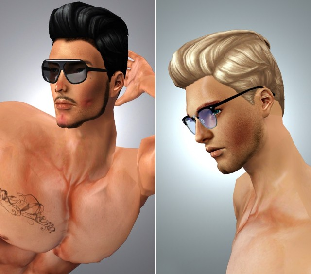 Pompadour Retro - Hair Conversion 4to3 by boysoversims