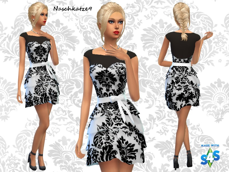 TSR  Clothing, Female : Quilling in Black and White by naschkatze9
