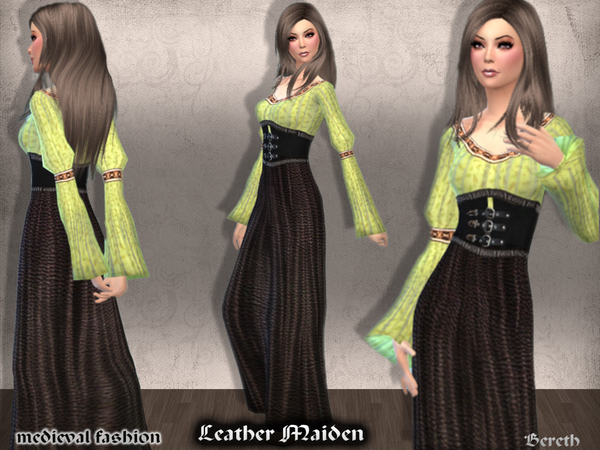 Medieval Dress Leather Maiden by Bereth