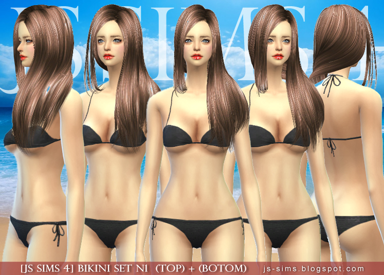 Bikini Set for Teen - Elder Females by JS Sims 4
