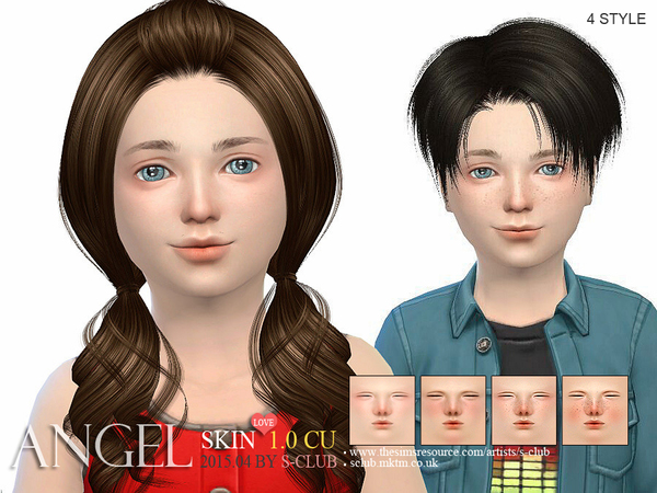 S-Club ts4 HS Angel skintonesCU) 1.0