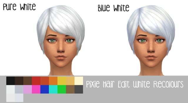 Pixie Hair Edit Recolors by Nyola