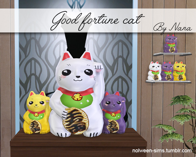 Good Fortune Cats by Nana