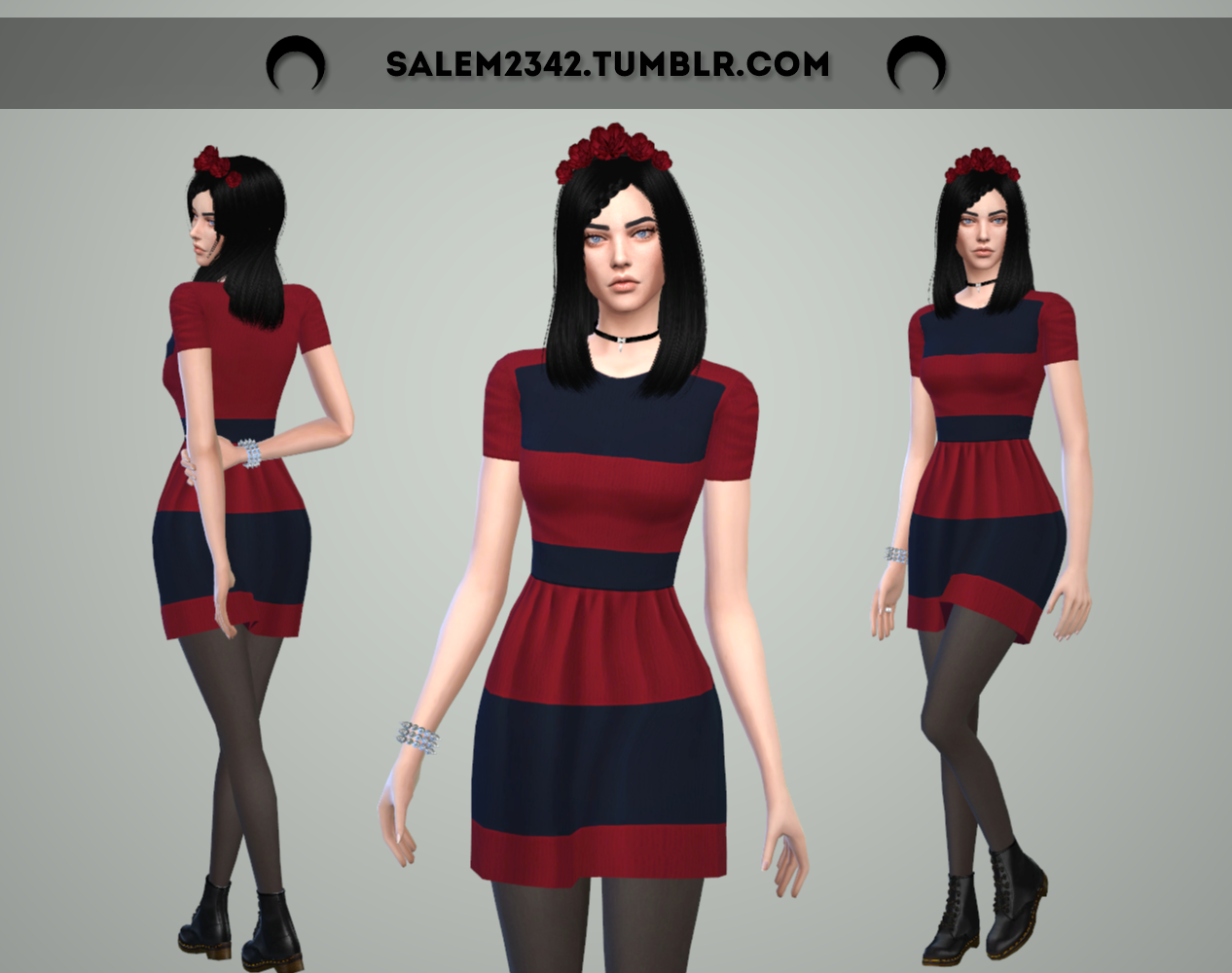 Red Striped Dress by Salem2342