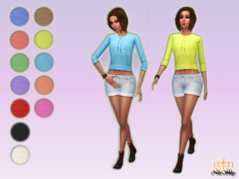 Get To Work Cropped Sweatshirts for Teen - Elder Females by Niteskkysims