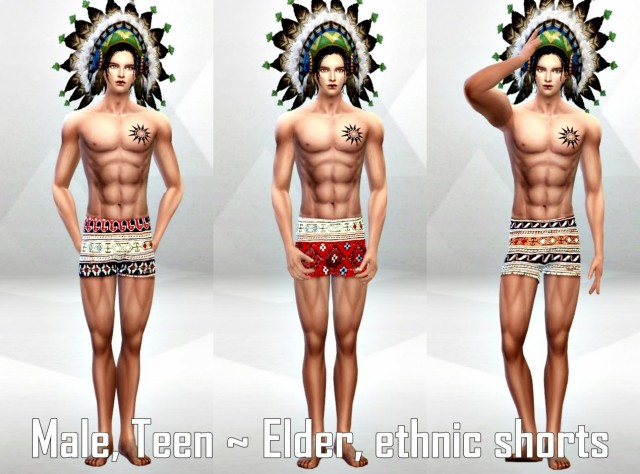M_Bottoms_ethnic shorts by Tllab