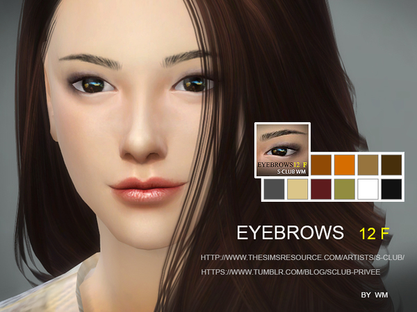 WM thesims4 Eyebrows12 F by S-Club