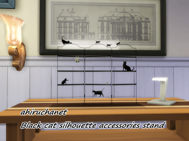 Black cat silhouette accessories stand by Ahiruchanet