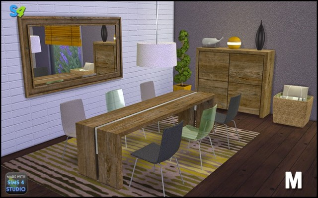 Julo Dining Set by Mango Sims