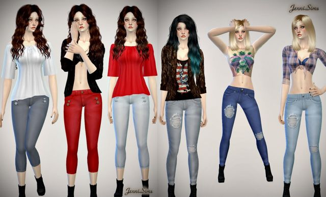 Sets of Jeans for the Sims 4 от JenniSims