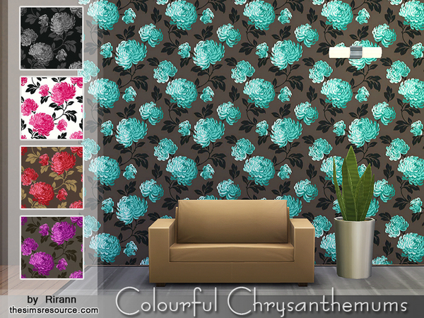 Colourful Chrysanthemums Wallpaper by Rirann