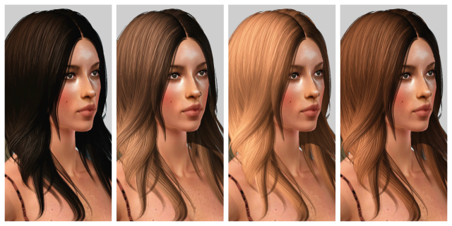 Ice Cream Flavor Inspired Hair Color Presets by Andromedasims