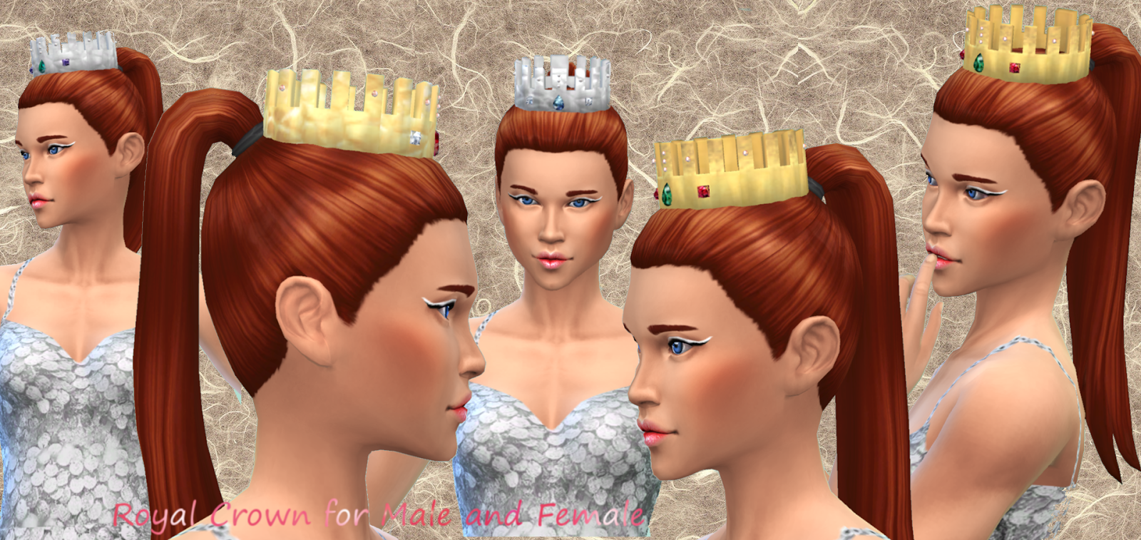 Royal Crown for Males & Females by Mythical Dream Sims 4