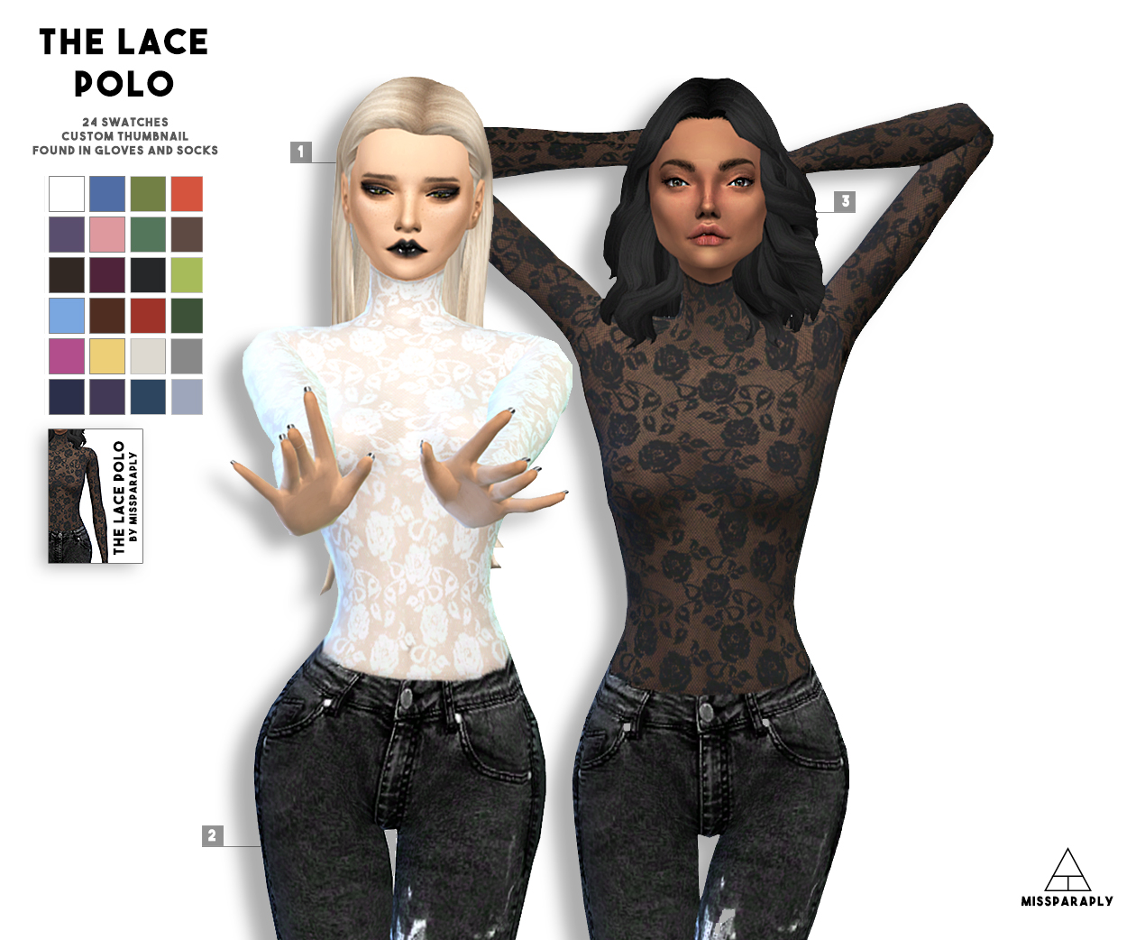 The Lace Polo by Miss Paraply