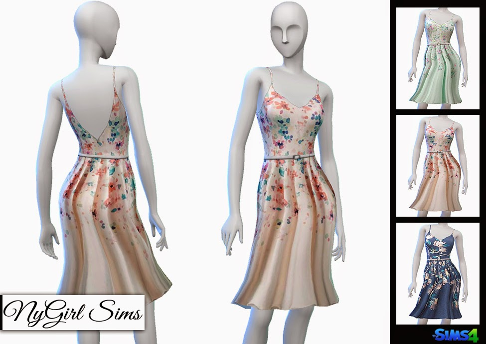 LC Floral Fit and Flare Spring Dress by NyGirl