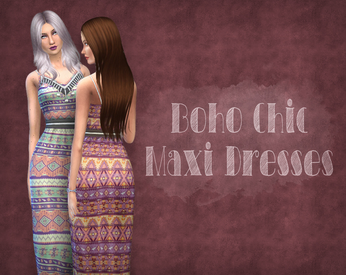 Boho Chic Maxi Dress by Simsrocuted