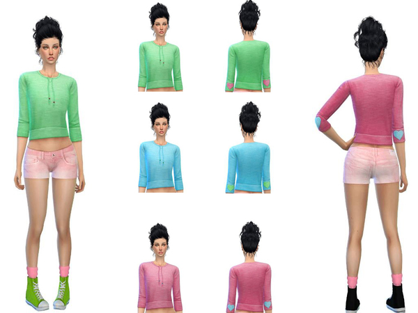 EA- sweathirt recolor set by sweetsims4