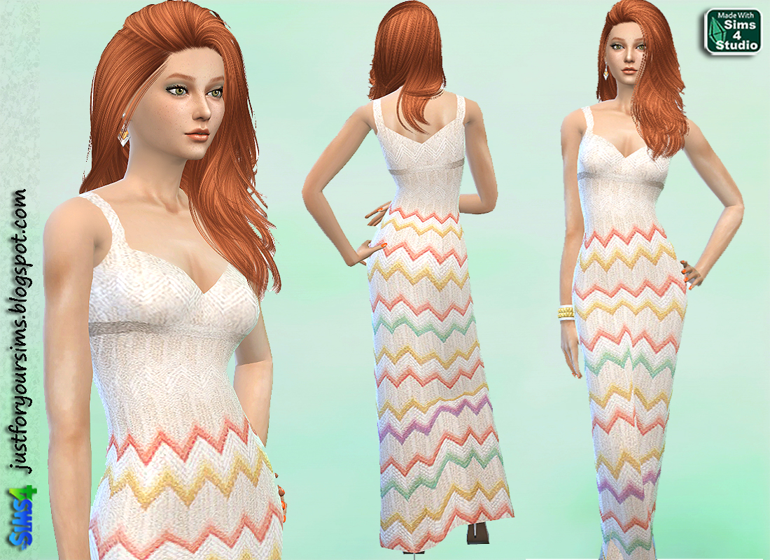 Knitted Maxi Dress by Just For Your Sims