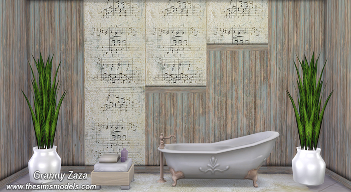 Music Walls for The Sims 4 by Granny Zaza