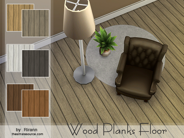 Wood Planks Floor by Rirann