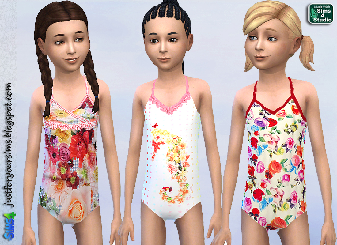 Cakewalk Swimsuits for girls by Just For Your Sims