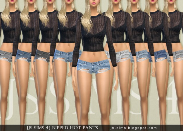 Ripped Hot Pants by JS SIMS 4