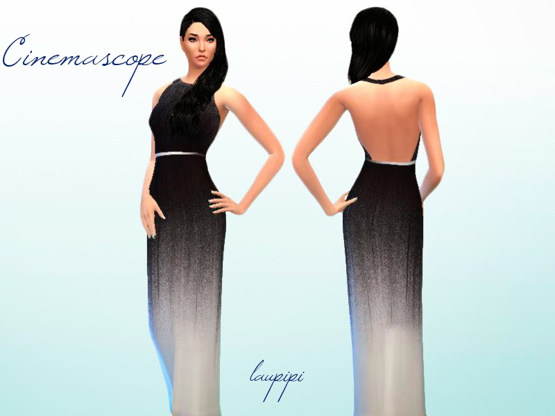 Cinemascope Dress by Laupipi