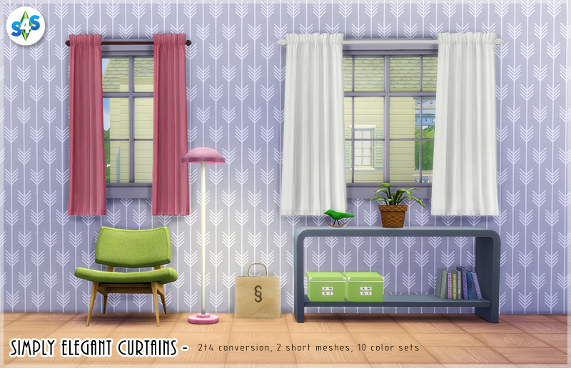 TS2 Simply Elegant Curtains Conversion by Allisas