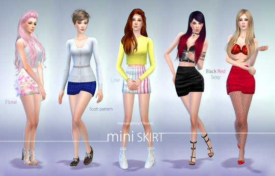 Mini Skirts by LifeSimmerCanada