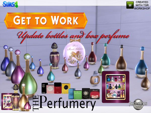 The perfumery get to work bottles and box updates P by jomsims
