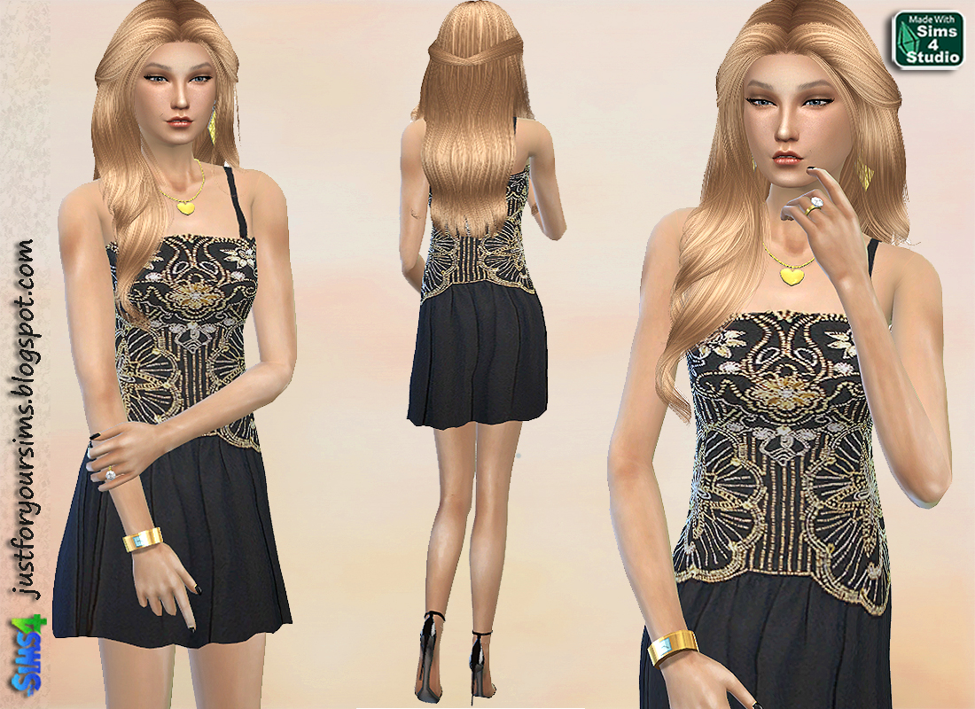 Embellished Cocktail Dress by Just For Your Sims