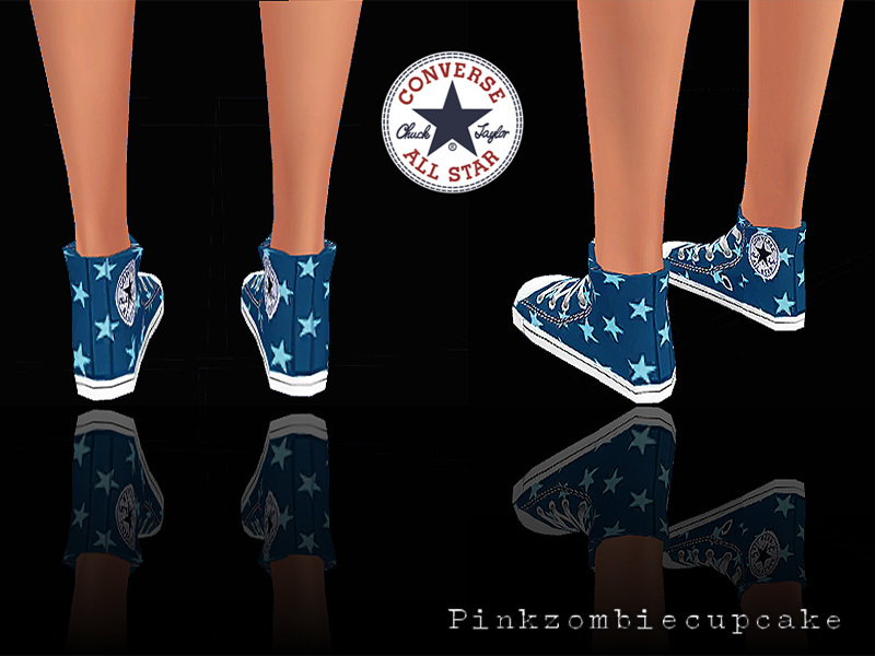 Converse Jeans&Stars BY Pinkzombiecupcakes
