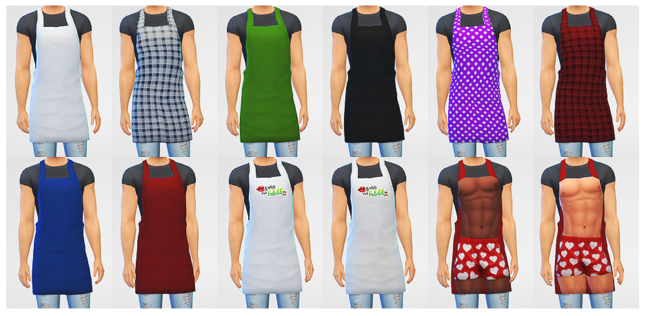 LumiaLover Sims  Clothing, Male : Male apron