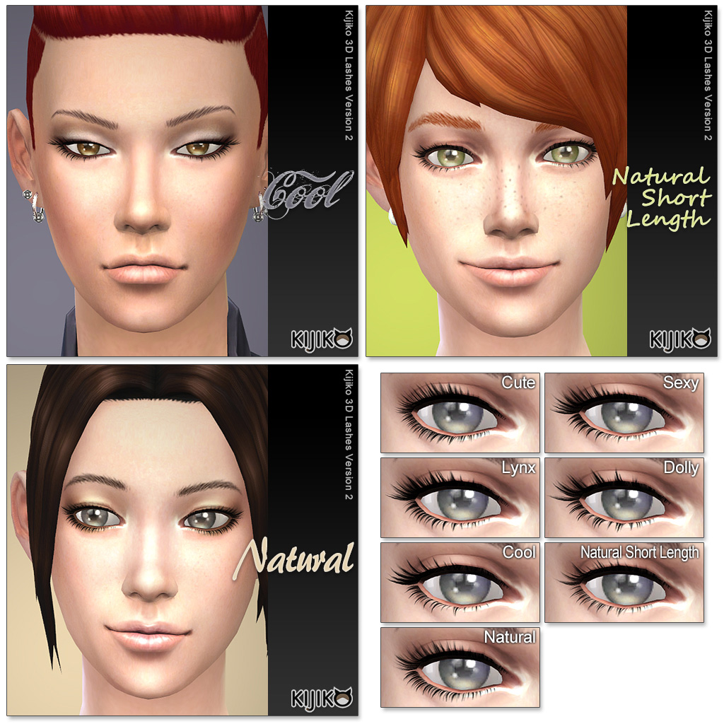 3D Lashes Version2 by Kijiko