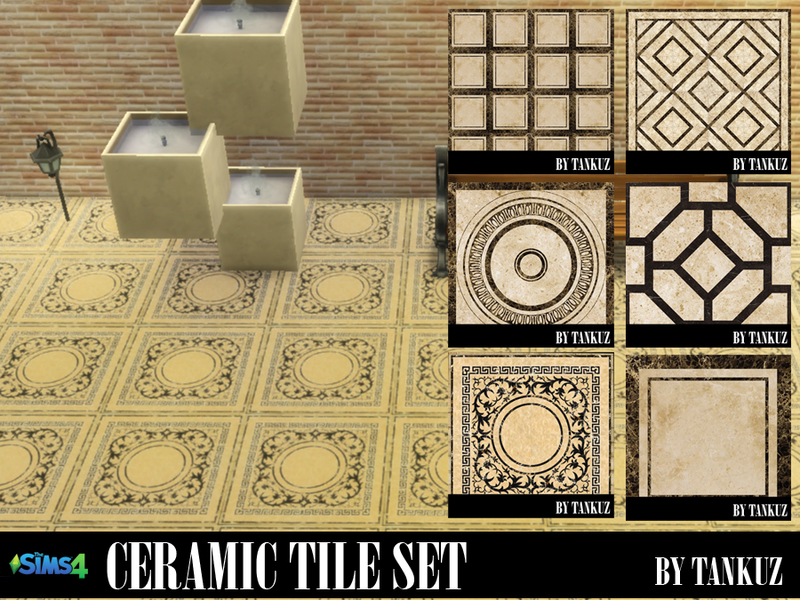 TS4 Ceramic tile set by Tankuz  BY Tankuz