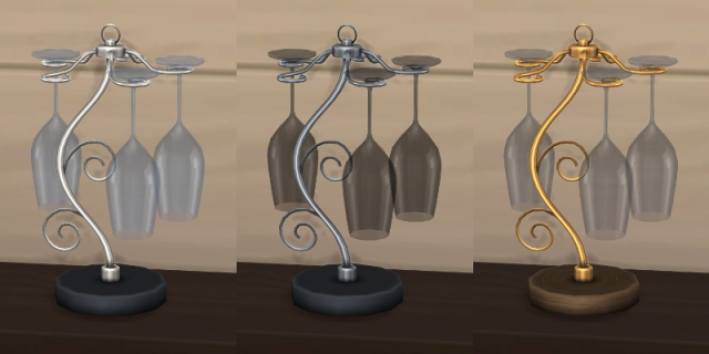 Wine Glasses and Racks by Tamamaro