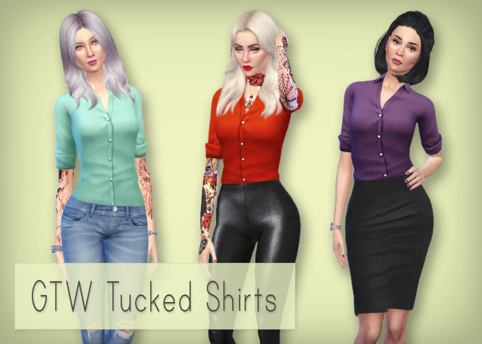 GTW Tucked Shirts Recolors by Simsrocuted