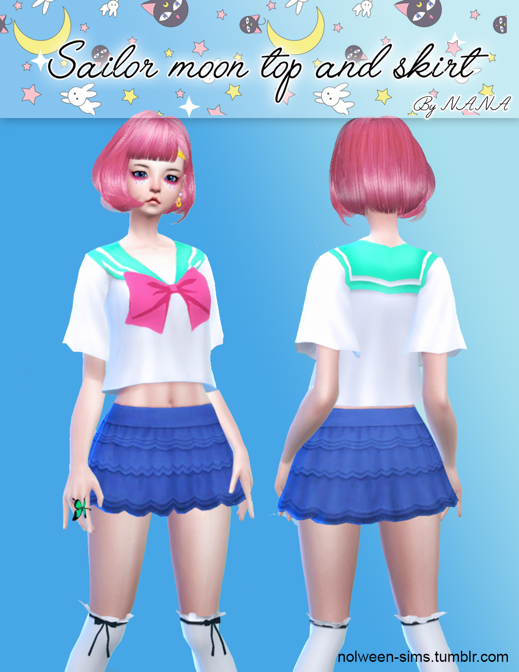 Sailor Moon Top and Skirt by Nana