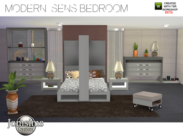 Jomsims Creations  modern-sens-bedroom