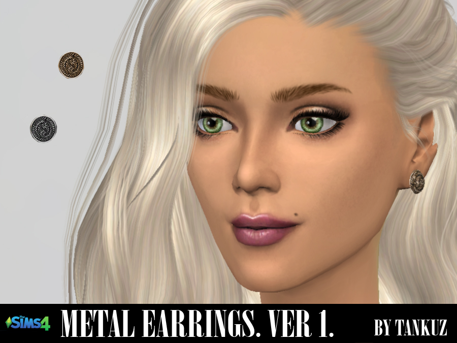 Metal Earrings (Ver. 01) by Tankuz