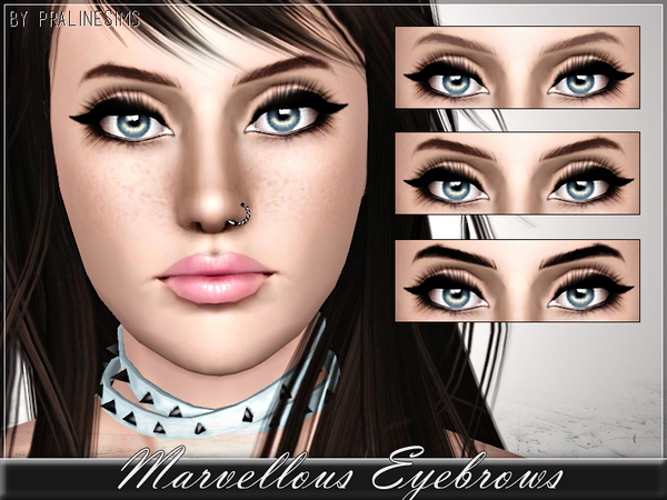 Marvellous Eyebrows by Pralinesims