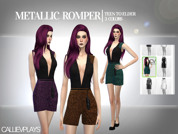 Metallic Romper by Callie V