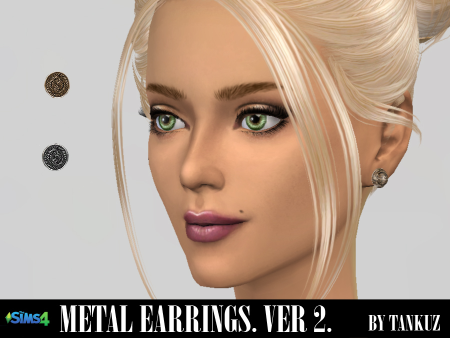 Metal Earrings (Ver. 02) by Tankuz