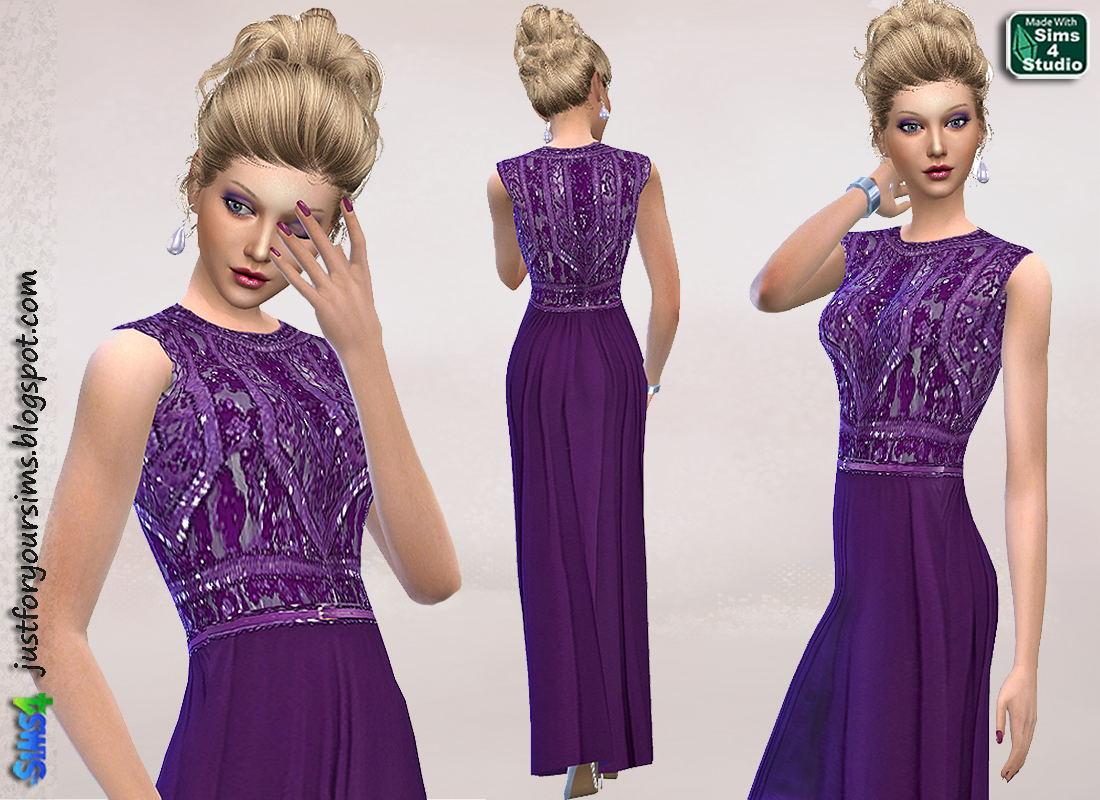Amethyst Gown by Just For Your Sims