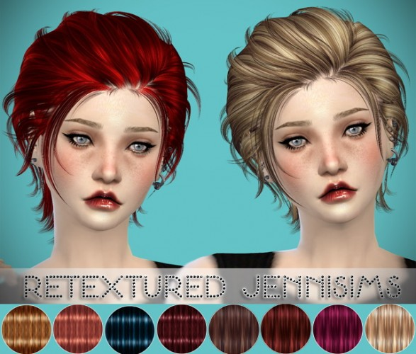 Newsea Gantz Hair retextured Male/Female by JenniSims