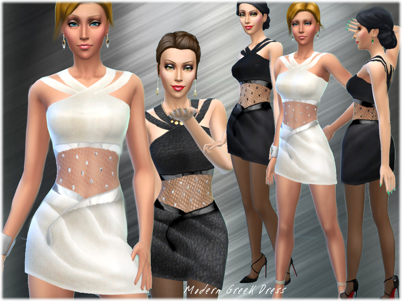 Modern Greek Style Dress BY alin2