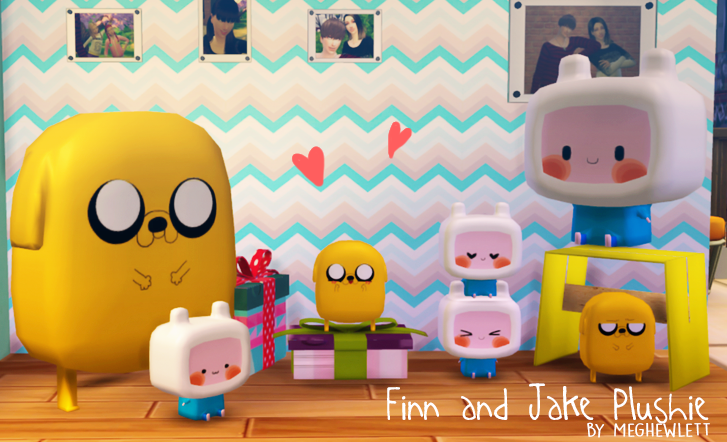 Finn and Jake Plushie by Meghewlett