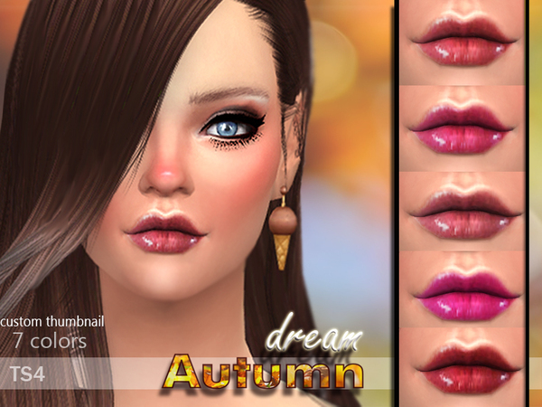 Autumn Dream Lipstick by Pinkzombiecupcakes